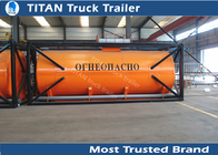 China Liquid transport containers carbon steel tanker trailer with 26000 liters capacity factory