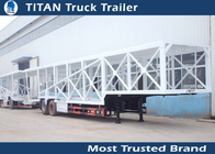 China Customized 2 Axle 7 car hauler trailer Frame / Enclosed , Semi car carrier trailer factory