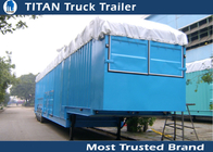 Green , yellow Auto / Car Hauler Carrier Transport Trailer for 8 - 20 cars Capacity supplier