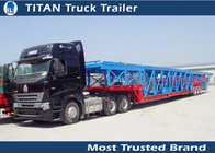 China Green , yellow Auto / Car Hauler Carrier Transport Trailer for 8 - 20 cars Capacity factory