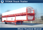 China Enclosed Vehicle Transport Semi Trailer Car Hauler with Mechanical suspension factory