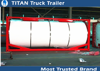 China Semi tanker trailers Tank container for bitumen / crude oil / palm oil transportation factory
