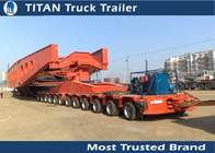 China Customized Dimension Heavy Transportation Multi Axle Trailer 100 - 200 ton company