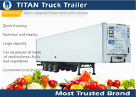 China Thermo King 20ft 40ft 53ft carrier trailer refrigeration For Frozen Food Transportation company
