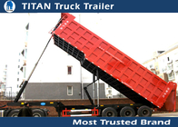 China Carbon steel Rear End deck over dump trailer , Tipper dump truck traielrs 3 Axle factory