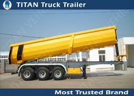 China High strength steel U shape Tipping Trailer Hydraulic Rear End Dump Semi Bed Trailer factory