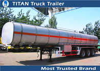 China TITAN Custom carbon steel fuel Tanker Trailer with 4mm 5mm 6mm tank thickness factory