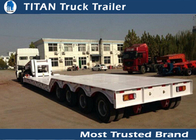 China Front Loading Semi Truck Trailer / 80 Ton Removable goose neck trailers 2 - 5 axles factory