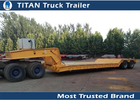 China 80 Ton Detachable Gooseneck Hydraulic Lowboy Trailer with 12KW Diesel engine factory