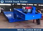 China Mechanical suspension lowboy semi trailer for machinery , excavator , bulk cargo factory