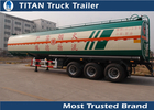 China Maximum volumetric capacity petrol fuel tank trailers with LED lighting factory