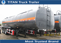 China Tri axle carbon steel bitumen tanker trailer with 43000 liters 1compartment factory