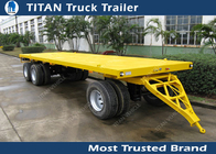 China Single / double axles pintle hitch trailers with front board , agricultural trailers factory