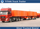 China International standards Tri axle Drawbar Trailer for sand and stone transportation factory