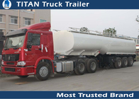 China 3 Axle 38 m3 fuel semi tanker trailer for Carry diesel , gasoline , liquid factory