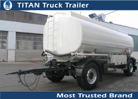 China Large capacity Custom fuel tanker Drawbar Trailer with exchangeable king pin factory