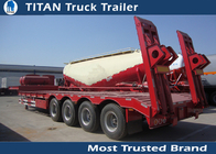 China Customized 4 axle 5 axle 6 axle low bed trailer with mechanical suspension factory