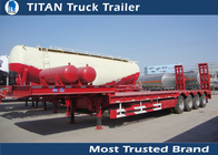 China Extendable Heavy Haulage 100 ton low load trailer for carrying excavator factory
