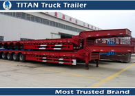 China Removable Low Bed Trailer For Heavy Transports , detachable gooseneck trailers factory