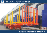 China Forest drop deck logging trailer for 6 meters - 22 meters timber lengths factory
