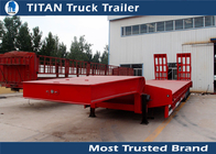 China Strong Semi Low bed Trailer Truck  , 4 Axle 120 Ton heavy duty utility trailer factory