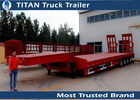 China Mechanical suspension 4 Axle 120 Ton Lowbed Semi multi axle trailers 9 - 20m Length factory