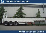 China 2 - 8 Axles low bed 40 foot gooseneck trailers , container transportation trailer vehicles factory