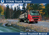 China 10 - 60 Tons payload logging trailer vehicles For Carry timber trailer , hoses factory
