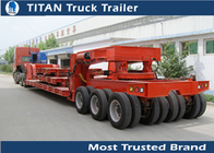 China 2 - 6 Axles Heavy Haul Trailers , 200 ton Low Loader Trailer for Heavy duty Transports factory