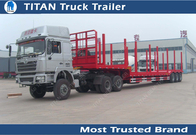 China 2 Axles 3 Axles drop deck forestry semi Logging Trailer truck / timber trailer factory