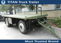 China High strength low alloy steel draw bar trailer with 1 axles , 2 axles , 3 axles optional factory