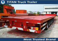 China Hydraulic steering axle Extendable Wind Blade Trailer , semi flatbed trailer company