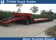 China High strength steelHeavy haul low bed semi trailers kingpin height changeable factory