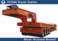 China Professtional detachable gooseneck lowboy trailers with Hydraulic system factory