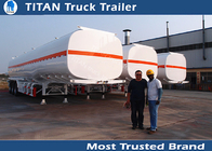 China Fuel oil tri axle tanker trailer 50000 liters Large capacity , fuel tank semi trailer factory