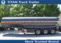 China Carbon steel Insulated heavy oil bitumen asphalt tank trailer with 3 axles factory