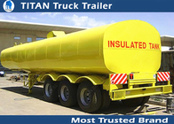 Carbon steel Insulated heavy oil bitumen asphalt tank trailer with 3 axles supplier
