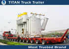 China Safety Multi Axle Hydraulic Modular Trailer , Gooseneck Low Loader Trailers factory