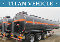 China 3 Axles Tanker Trailer Insulated Heated Bitumen Transport Semi Trailer factory
