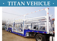 China carry 9 BMW SUV trailer ,25 tons 2 axle car hauler auto transport trailer,transporting car trailer factory