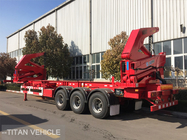 China 37 ton 40ft  Container Side Loader Trailer , Self Loading Container Trailer factory