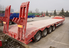 China TITAN 4 axle low bed semi trailer 100 ton 120 tons low loader truck trailer factory