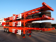 China Tri-axle 40 Feet Shipping Container Trailer Chassis With Container Lock factory