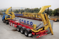 Tri Axle Container Side Lift  Side Loader Trailer For Djibouti Market
