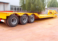 China Front Load Detachable Gooseneck Lowboy Trailer For Machinery Transportion factory