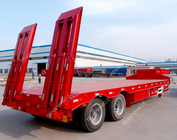 China 2 Axle lowbed semi trailer TITAN 30-40 Ton heavy duty equipment trailers factory