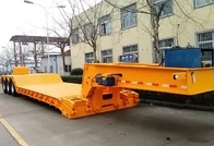 China Tri Axle Front Loading Lowboy Gooseneck Trailers With Power Station factory