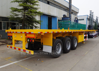 TITAN 3 Axle flatbed semi trailer , 40ft heavy duty flatbed trailers