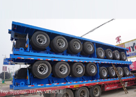 60 Tons 4 Axles Flat Bed Semi Trailer for Carrying 40ft 20ft Container