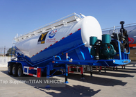 3 Axles 30cbm 40 ton Silo Bulker Cement Tank Trailer Carrier Reinforced Steel Material
